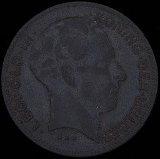 Бельгия. 5 франков 1941 г. Цинк