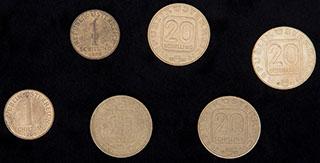Австрия. Лот из монет 1980-1997 гг. 6 шт.