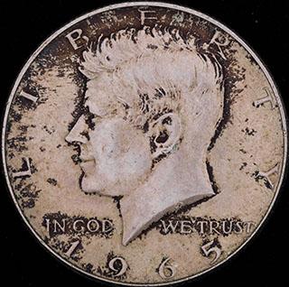 США. 1/2 доллара 1965 г. Серебро