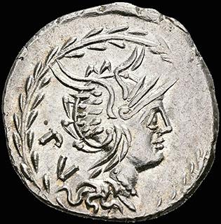 Римская Республика. Монетарии М. Луцилий Руф. Денарий 101 г. до н.э. Crawf. 324/1; Syd. 599. Серебро