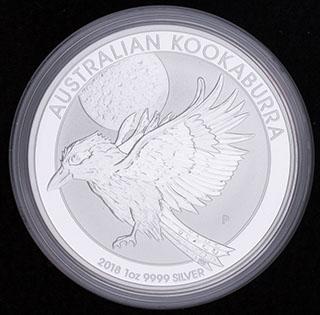 Австралия. 1 доллар 2018 г. «Кукабарра». Серебро
