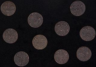 Швеция. Лот из 1/4 оре 1644–1654 гг. 10 шт.