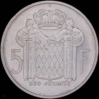 Монако. 5 франков 1960 г. Серебро