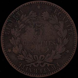 Франция. 5 сантимов 1897 г. Медь
