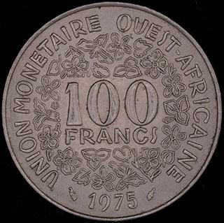 Западная Африка. 100 франков 1975 г. Никель