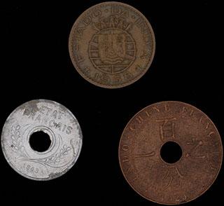 Лот из иностранных монет 1923-1958 гг. 3 шт.