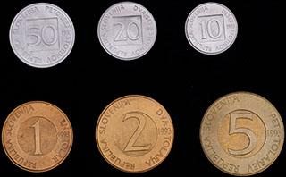 Словения. Лот из монет 1993 г. 6 шт.