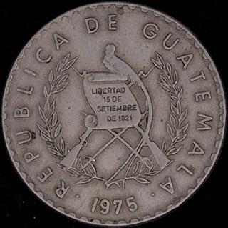 Гватемала. 10 сентаво 1975 г. Медно-никелевый сплав