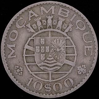 Мозамбик. 10 эскудо 1970 г. Медно-никелевый сплав