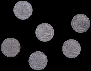 Бурунди. Лот из 5 франков 2014 г. 6 шт.