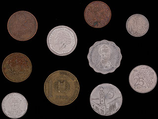 Лот из монет стран Карибского бассейна 1979-2008 гг. 10 шт.