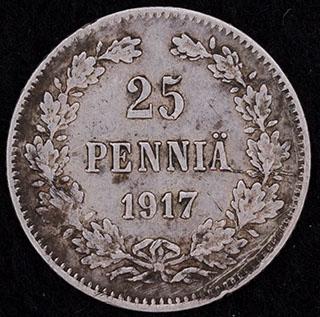 25 пенни 1917 г. S. Серебро