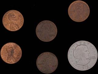 США. Лот из монет 1976-1989 гг. 6 шт.