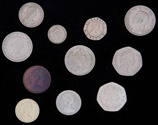 Великобритания. Лот из монет 1950-2010 гг. 11 шт.