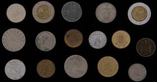 Лот из иностранных монет 1941-1996 гг. 16 шт.