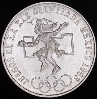 Мексика. 25 песо 1968 г.  Серебро