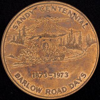 США. «100 лет с основания г. Сэнди, Орегон. 1873-1973». Латунь
