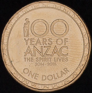 Австралия. 1 доллар 2017 г. «100 лет АНЗАК». Алюминиевая бронза