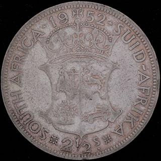 ЮАР. 2 1/2 шиллинга 1952 г. Серебро