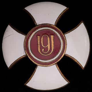 Польша. Знак 9-го Малопольского уланского полка. II половина ХХ в. Бронза, позолота, эмаль. Оригинальная закрута