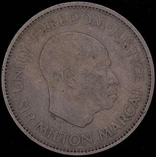 Сьерра-Леоне. 10 центов 1964 г. Медно-никелевый сплав