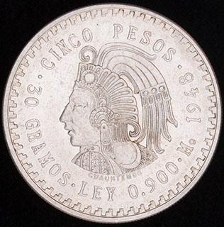 Мексика. 5 песо 1948 г. Серебро