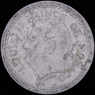 Монако. 1 франк 1943 г. Алюминий
