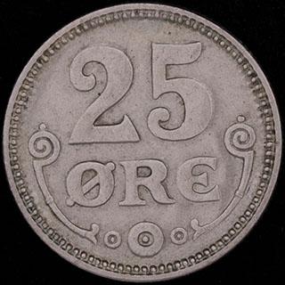 Дания. 25 эре 1921 г. Медно-никелевый сплав