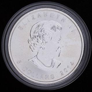 Канада. 5 долларов 2014 г. Серебро