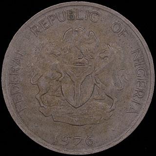 Нигерия. 10 кобо 1976 г. Медно-никелевый сплав
