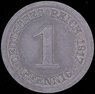 Германия. 1 пфенниг 1917 г. Е. Алюминий