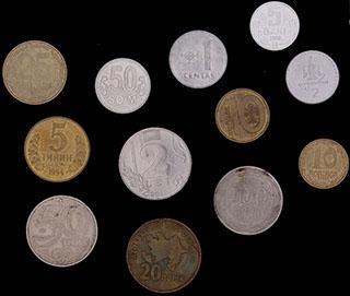 Лот из иностранных монет 1991-2018 гг. 12 шт.