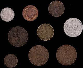 Великобритания. Лот из монет 1921-2013 гг. 9 шт.