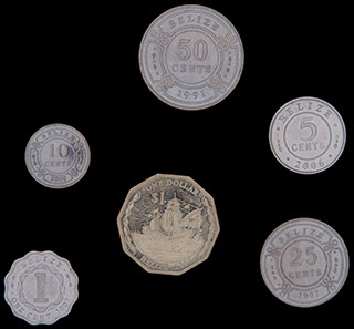 Белиз. Лот из монет 1991-2007 гг. 6 шт.