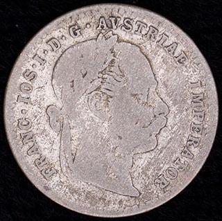 Австрия. 10 крейцеров 1872 г. Серебро