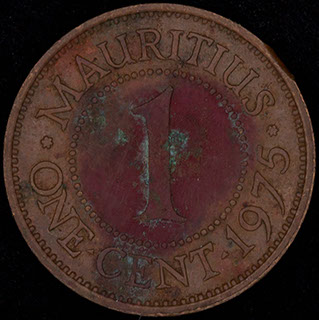 Маврикий. 1 цент 1975 г. Медь
