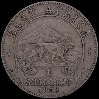 Британская Восточная Африка. 1 шиллинг 1952 г. Медно-никелевый сплав