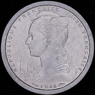 Французская Западная Африка. 1 франк 1948г. Алюминий