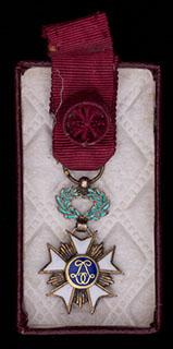 Бельгия. Фрачный знак ордена Короны. Серебро, позолота, эмаль. С оригинальной лентой. В оригинальной коробке