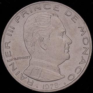 Монако. 1 франк 1978 г. Никель