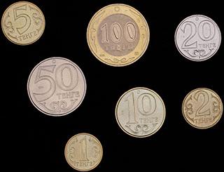 Казахстан. Лот из монет 2005-2014 гг. 7 шт.