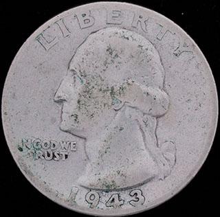 США. 1/4 доллара 1943 г. Серебро