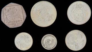Кипр. Лот из монет 2004 г. 6 шт.