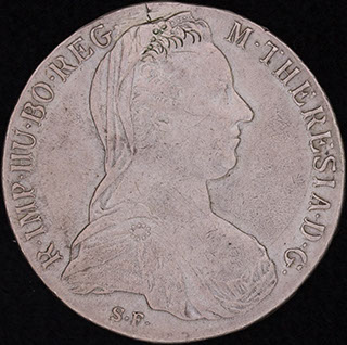 Австрия. 1 талер 1780 г. Серебро