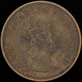 Джерси. 1/4 шиллинга 1957 г. Никелевая латунь