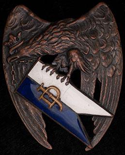 Польша. Знак 2-го Гроховского уланского полка. II половина ХХ в. Бронза, эмаль. Оригинальная закрутка утрачена