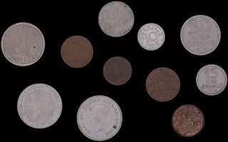 Лот из иностранных монет 1963-2007 гг. 11 шт.