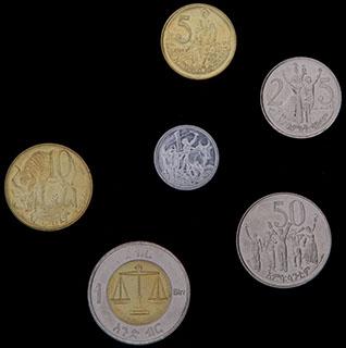 Эфиопия. Лот из монет 2010-2016 гг. 6 шт.