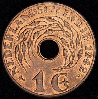 Голландская Ост-Индия. 1 цент 1942 г. Медь