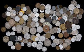 Лот из иностранных монет 1875-1991 гг. 201 шт.